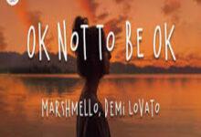 Photo of Ok Not To Be Ok Song Lyrics  – Demi Lovato   Marshmello