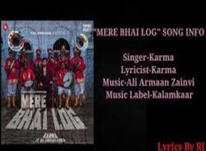 Photo of MERE BHAI LOG Song Lyrics –  KARMA